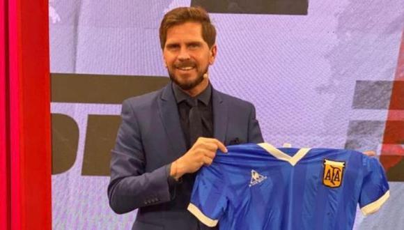 'Pollo' Vignolo fue el encargado de narrar el partido entre Racing y Sao Paulo por Copa Libertadores. (Foto: Instagram)
