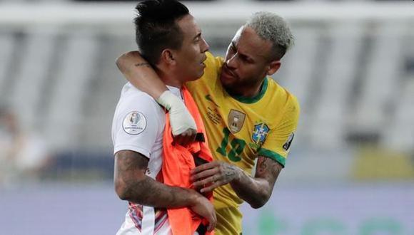 El mediocampista peruano dio detalles del encuentro que tuvo con el crack brasileño en la cancha, luego del partido por semifinales de la Copa América
