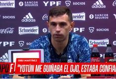 La revelación de 'Dibu' Martínez sobre Yotún previo a penal en el Perú-Argentina   VIDEO