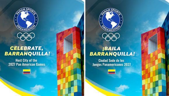 Barranquilla será la sede de los Juegos Panamericanos 2027. (Foto: Twitter)