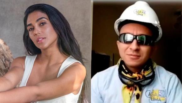 Vania Bludau advierte al 'Ingeniero Bailarín' y lo acusa de difamación. (Foto: @elingenierobailarin/@vaniabludau).