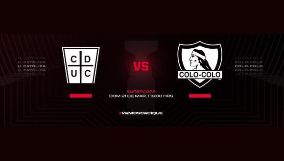 Universidad Católica vs. Colo Colo: chocan por el título de la Supercopa de Chile.