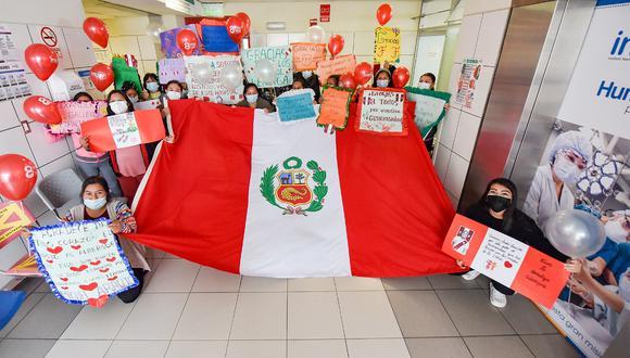 Las madres de los niños internados en el Instituto Nacional del Hospital del Niño de San Borja agradecieron a la selección peruana de fútbol por su noble gesto. (FOTO:INSN)