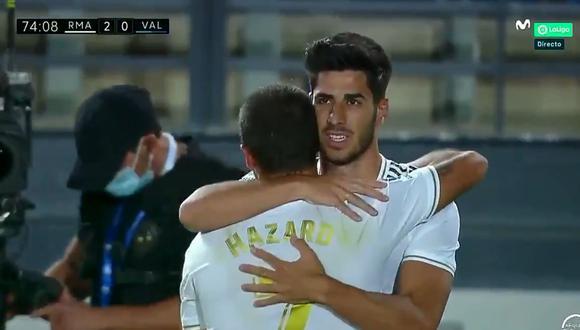 Asensio anotó el 2-0 del Real Madrid ante Valencia. (Video: YouTube)