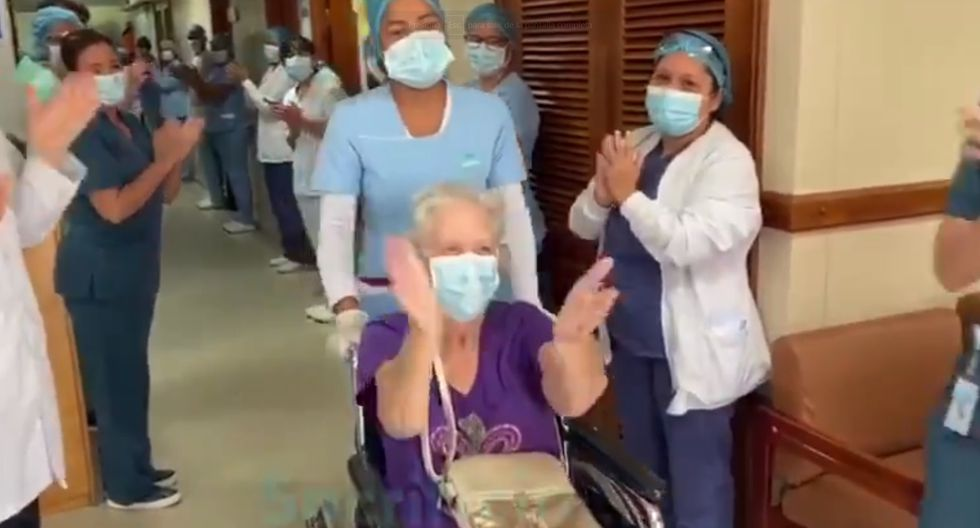 Coronavirus Colombia | Anciana de 85 años se recupera satisfactoriamente del COVID-19 y le dan de alta
