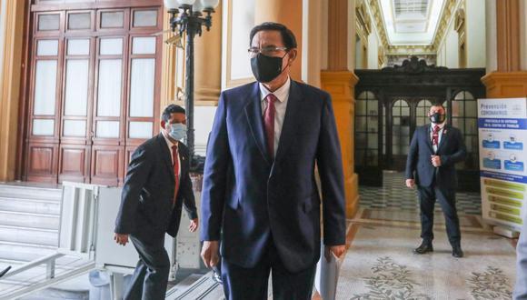 Martín Vizcarra es inhabilitado 10 años por el Congreso (Foto: Congreso).
