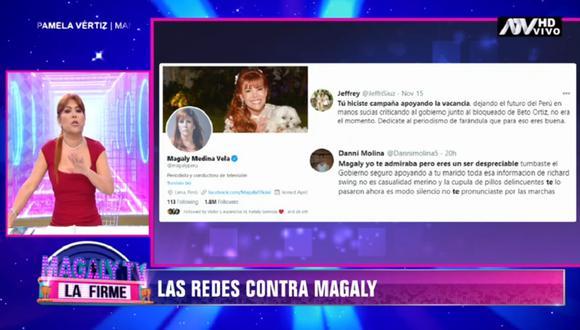 Magaly Medina se defiende tras ser blanco de duras de críticas. (Foto: Captura ATV)