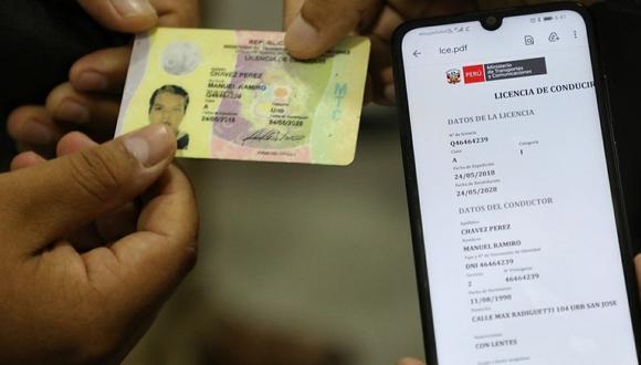 La licencia de conducir electrónica proporciona mayores facilidades. (Foto: MTC)
