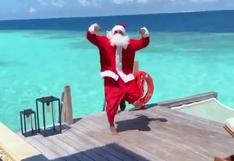 YouTube: el baile de Patrice Evra vestido de Papá Noel que se volvió rival en Navidad   VIDEO