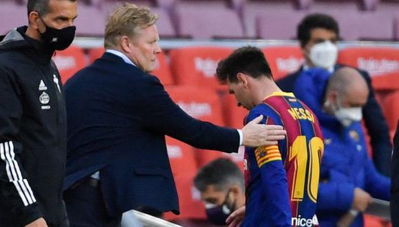 Ronald Koeman habló de cómo afectó la partida de Lionel Messi a Barcelona. (Foto: Reuters)