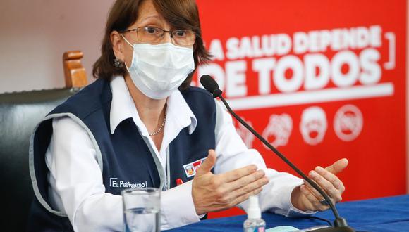 La ministra de Salud, Pilar Mazzetti, hizo una precisión sobre la comercialización de las vacunas contra el COVID-19. (Foto: ANDINA/ Minsa)