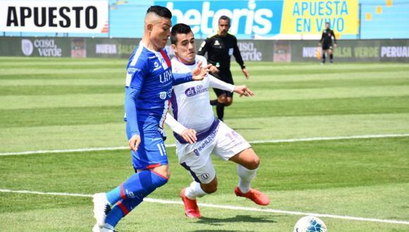 Cuando Universitario había conseguido anotar el 2-1, una mano en el área crema de Diego Chávez le dio la posibilidad de empatar el partido al cuadro carlista. Lagos nuevamente de penal marcó ante José Carvallo.