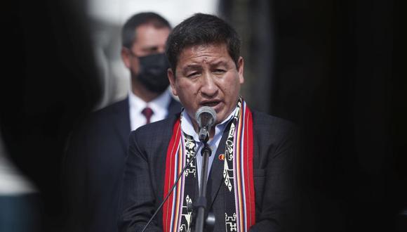 """""""¿Cómo le voy a decir eso si no tengo confianza con la congresista?"""", dijo Guido Bellido sobre Patricia Chirinos. (Foto: Hugo Pérez/GEC)"""