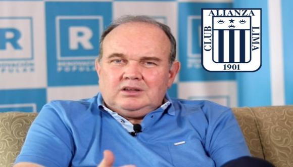 Rafael López Aliaga celebra decisión del TAS sobre Alianza Lima.