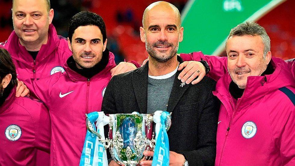 Pep Guardiola consigue su primer título con el Manchester City [GALERÍA]
