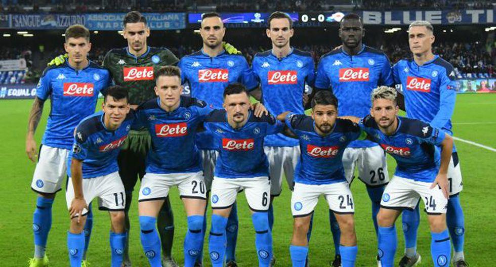 Napoli empató 1-1 ante el austrIaco Salzburgo en San Paolo. (Foto: AFP)