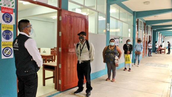 La ONPE ha establecido un horario de votación escalonada para evitar aglomeraciones y posibles contagios de COVID-19  (Foto: ONPE)