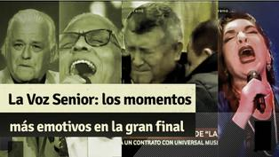 """""""La Voz Senior"""": revive el triunfo de Mito Plaza y los momentos más emotivos que nos dejó la gran final"""