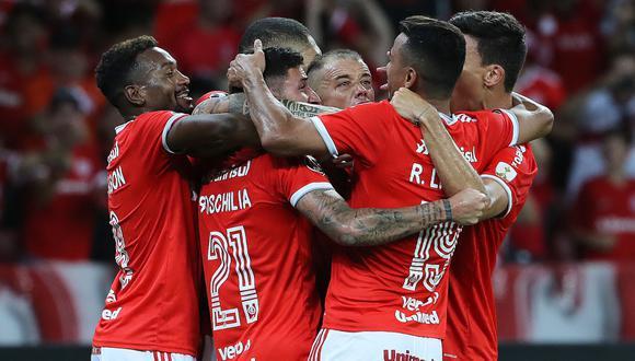 Internacional celebra la clasificación a la Fase 3 de la Copa Libertadores | Foto: AFP