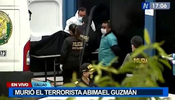 Restos de Abimael Guzmán ingresaron a la morgue del Callao en una bolsa negra. (Foto: captura de pantalla | Canal N)