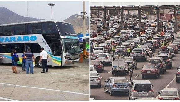 Semana Santa: Miles salen de Lima hacia el centro y sur del país