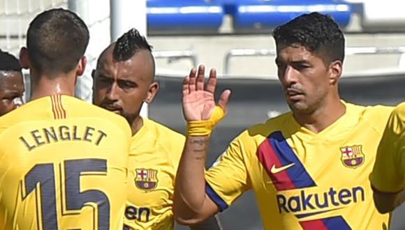 Luis Suárez firmó su decimosexto gol en la temporada liguera con el FC Barcelona. (Foto: AFP)