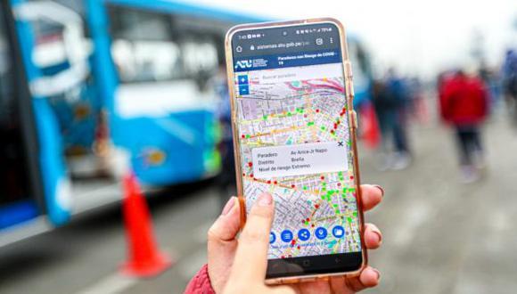 ATU presenta mapa virtual para que usuarios de transporte público conozcan los paraderos que reportan riesgo de exposición de COVID-19. (Foto: ATU)
