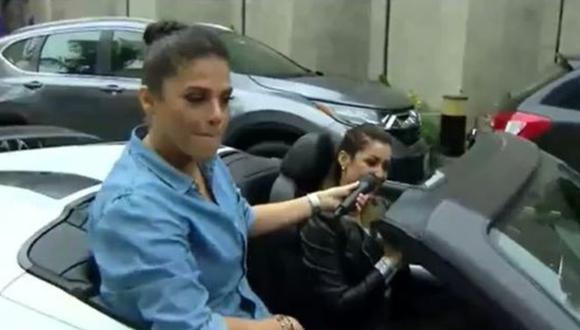 Karla Tarazona reveló que el Audi R8 GT Fighter en el que se moviliza era el auto de soltero de su esposo. (Foto: Captura de video)