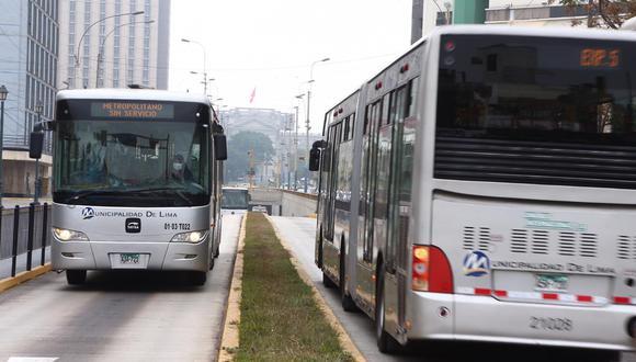 El Metropolitano funcionará este martes en su horario habitual pero con servicios restringidos. (GEC)