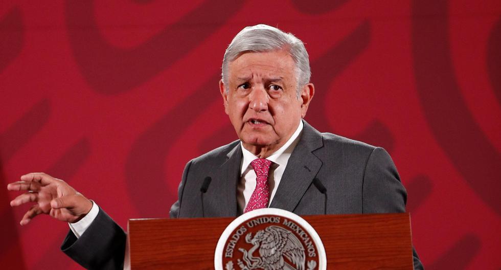 El presidente de México, Andrés Manuel López Obrador, presento sus amuleto para combatir el coronavirus. (EFE).