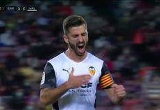 José Gayà marcó el 1-0 del Valencia sobre Barcelona en LaLiga   VIDEO