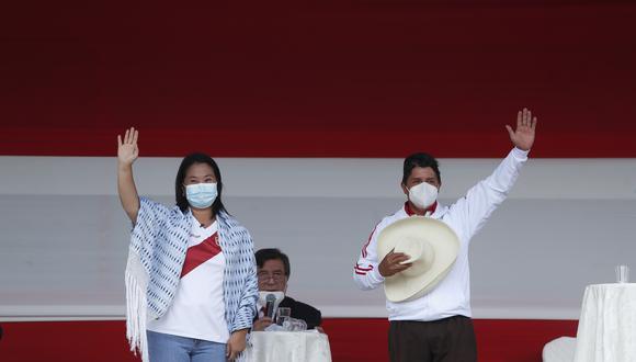 Empate técnico entre Keiko Fujimori y Pedro Castillo en flash electoral de Ipsos (Foto: Hugo Perez/GEC)