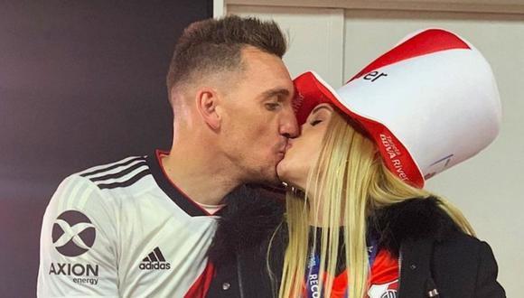 Daniela Rendón defiende a golero de River Plate. (Foto: @dafarendon)