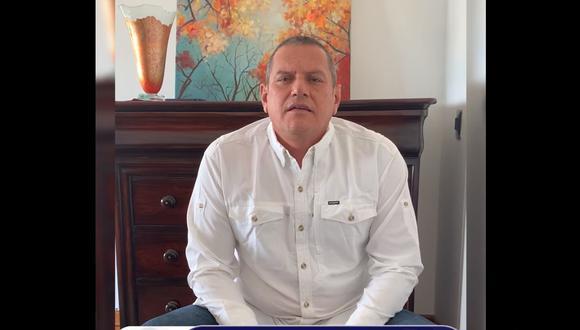 Guillermo Miranda se pronunció a través de un video publicado en Facebook. (Digital TV Noticias)