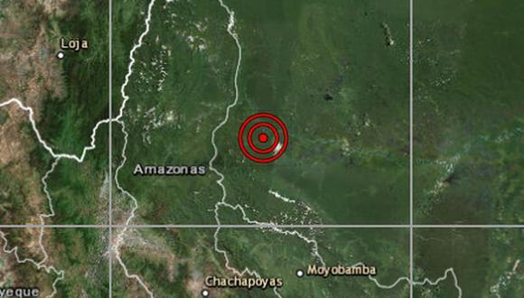El sismo no ha causado daños en la región Amazonas. (Foto: IGP)