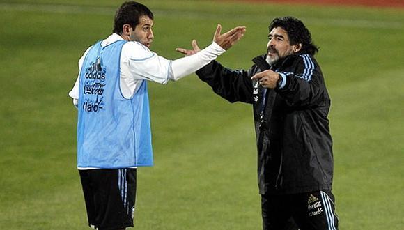 Diego Maradona criticó a referente argentino por no defender a Lionel Messi