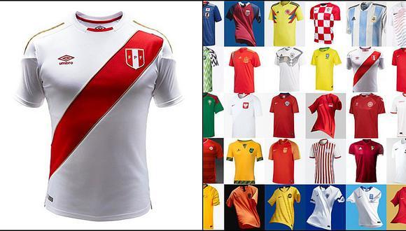 Camiseta de Perú en ranking de las 50 más bonitas del mundo