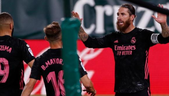 Con un gol agónico de Sergio Ramos, Real Madrid logró vencer 3-2 a Betis y sumó su primer triunfo en LaLiga Santander. FOTO: Real Madrid
