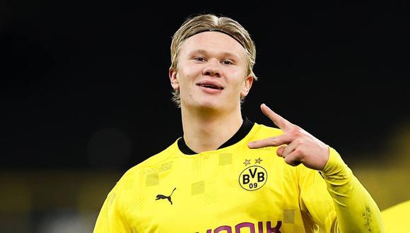 Erling Haaland llegó a Borussia Dortmund en la temporada 2020. (Foto: EFE)