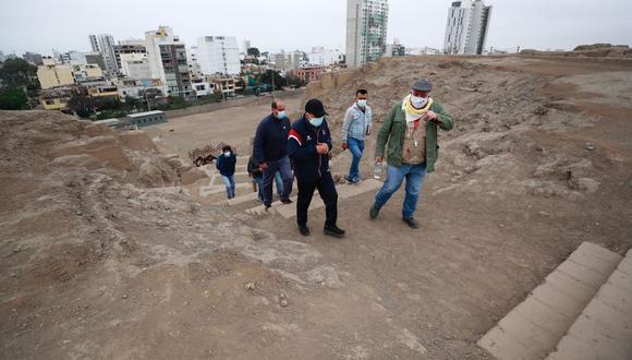 """Ministro de Cultura: """"Invoco a los municipios a parar con las invasiones en los sitios arqueológicos"""". (Foto: Mincul)"""