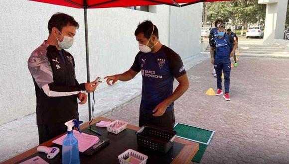 Ocho casos positivos de coronavirus en Liga de Quito. (Foto: @LDU_Oficial)