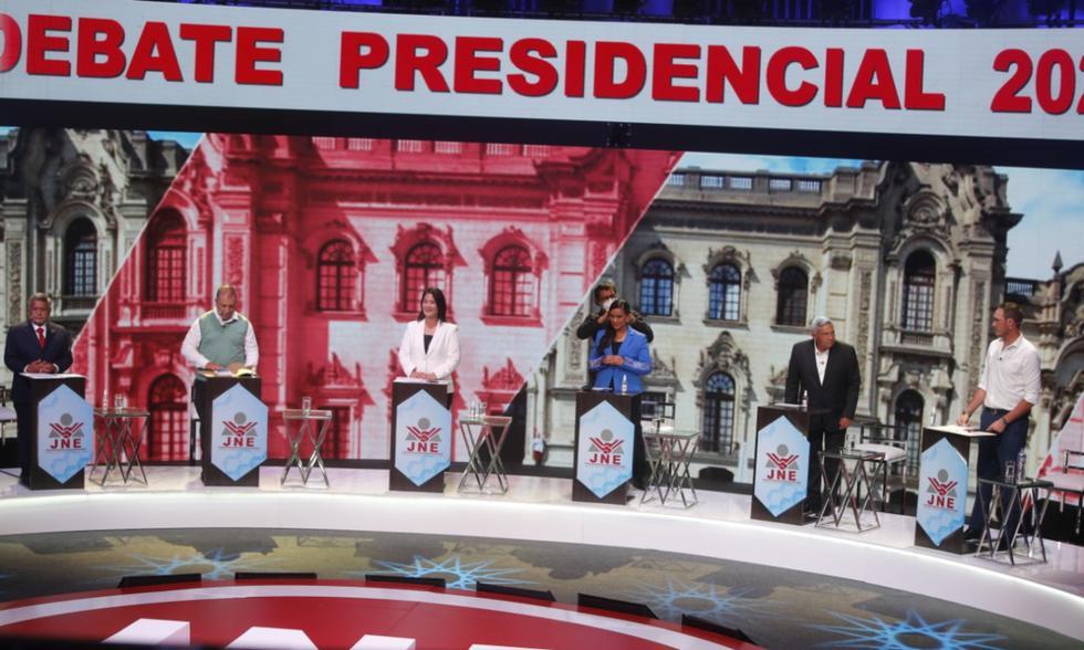 Primer debate presidencial del JNE, en vivo vía América TV y Latina en directo. FOTO: GEC.