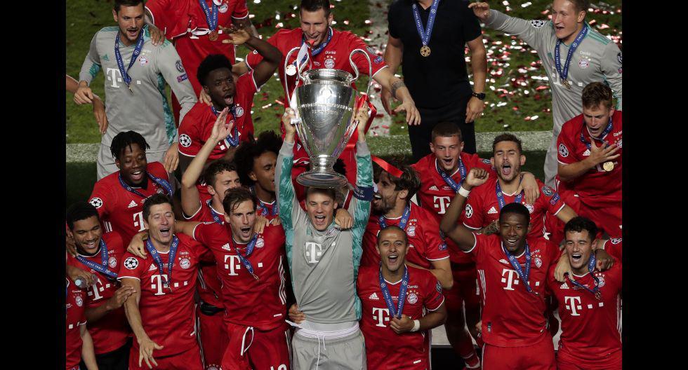 El festejo de Bayern Múnich tras el título de Champions League 2020. (Foto: AFP)