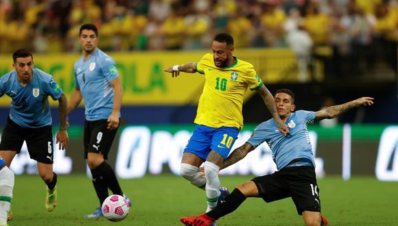 Brasil venció a Uruguay por las Eliminatorias Qatar 2022 | Foto: AP/AFP/Reuters
