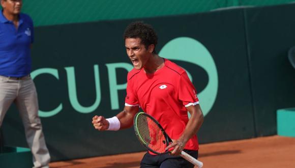 El tenista peruano se impuso 6-4 y 6-1 al brasileño Felipe Meligeni. (Foto: GEC)
