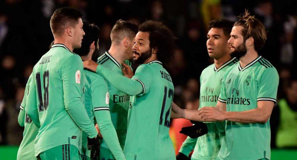 Real Madrid, tras eliminar al Unionistas de Salamanca, se medirá al Zaragoza. (Foto: AFP)