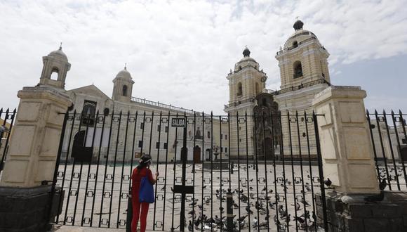 Gobierno autorizó la celebración de misas en templos situado en regiones que figuran en nivel extremo en medio de la pandemia del COVID-19 en el Perú.  (Foto : Violeta Ayasta/@photo.gec)