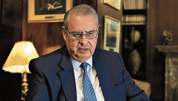El canciller Allan Wagner se pronunció tras agravios de Rafael López Aliaga contra el Ministerio de Relaciones Exteriores. (GEC)
