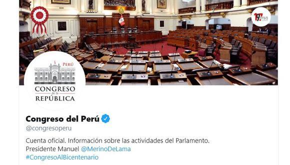 El Congreso asegura que su cuenta de Twitter fue suspendida temporalmente tras varios intentos de vulnerar su privacidad. (Foto: Twitter)