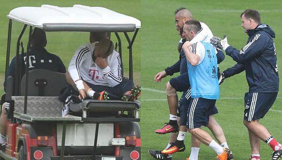 Arturo Vidal salió llorando de los entrenamientos por lesión [FOTOS]